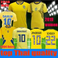 3a18f89b5 women men 2019 2018 World Cup IBRAHIMOVIC Sweden Soccer jersey JAKOBSSON  1994 DAHLIN Sweden Retro Jerseys 19 20 LJUNGBERG Football shirt