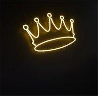 barra de luz de la corona al por mayor-New Star Neon Sign Factory 17X14 Pulgadas Luz de neón de vidrio real para cerveza Bar Pub Garaje Habitación Corona