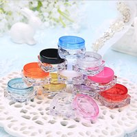 Wholesale free lip samples for sale - Group buy 3g Plastic Cosmetic Container Nail Polish Cream Sample Bottle Empty Lip Balm Packing Square Bottom Jar