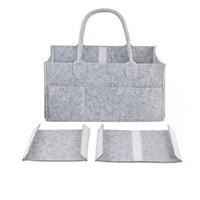 автомобиль для девочек оптовых-Детские пеленки сумки серый детские пеленки сумка портативный автомобиль организатор путешествия войлочная корзина новорожденная девочка мальчик подгузник сумка для хранения MMA2351