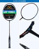 raquete de badminton frete grátis venda por atacado-YON EXX Raquete de Badminton Raquete de carbono de alta elasticidade Linha de conclusão DUORA DUORA 10 LCW Laranja-Azul FRETE GRÁTIS