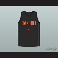 herhangi bir renk toptan satış-Harry Giles 1 Oak Hill Academy Siyah Basketbol Jersey-1 Özel Herhangi İsim Herhangi Numara Ücretsiz nakliye renk beyaz