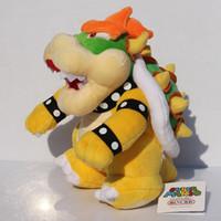 anime zeug freies verschiffen großhandel-25 cm Stehen Super Mario Bros Bowser Koopa Plüschtier Kuscheltier Puppen Spielzeug Großes Geschenk Freies Verschiffen