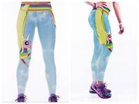 93d9f2e21eb99 Woman Sport Leggings Colours Of The Rainbow Summer Plus Size Fitness  Sportswear Leggings High Waist Workout Elastic Pants Hot-009.35
