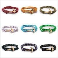 Wholesale fishhook jewelry for sale - Group buy Hot Sale Paragraph Fishhook Cuff Bracelets Geometry Survival Rope Friendship Bracelet Men and Women Lovers Jewelry