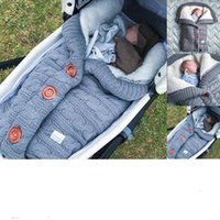 Wholesale outdoor strollers for sale - Group buy 2019 Baby Button Sleeping Bag Baby Outdoor Baby Stroller Sleeping Bag Wool Knit Plus Velvet Thick Warm