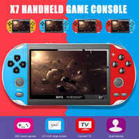 Wholesale usb video games player for sale - Group buy X7 Video Rechargeable Dual Rocker Plastic Inch USB Game Console TV Output Multifunctional Gifts GB Handheld Game Player VS X7 Plus