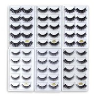 Wholesale lash extensions kits resale online - 5 pairs D Mink Eyelashes Natural False Eyelashes styles Lashes Soft Fake Eyelashes Extension Makeup Kit Cilios G800 Natural