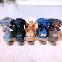uzun rahat ayakkabılar toptan satış-3208-1 Avustralya Klasik Ayakkabı Kadın ve Erkek Deri Ayakkabı Yüksek Kalite Pamuk Uzun Çizme 3AA + ChaussuresUGGUGGSbot ayakkabı