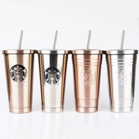 Wholesale tea cupping for sale - Group buy 2019 Starbucks Vacuum Insulated Travel Coffee Mug Stainless Steel Tumbler Sweat Free Coffee Tea Cup Thermos Flask Water Bottle C19041302