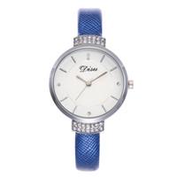 современные женские часы оптовых-Modern Fashion Leather Wrist Watch Simple temperament Quartz Women Watches High quality  Female Watches Orologi Donna
