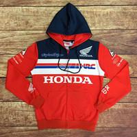 binmek toptan satış-Moto GP Motokros yarışı Hoodie moto binme kapüşonlu giyim ceket erkekler çapraz Zip forması tişörtü ceket 047 ceketler