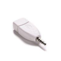 Wholesale male female jack plugs resale online - 3 mm Male Aux Audio Plug Jack To USB Female Converter Adapter