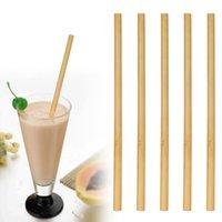 ingrosso bambù per bar-Cannucce di bambù naturale al 100% Bevande riutilizzabili Cannuccia per bevande Party Bar Bere Strumento Spedizione gratuita DHL 23cm