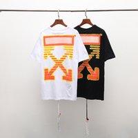 ingrosso camicie gialle per la moda degli uomini-Nuovo marchio di moda asiatica estate t-shirt da uomo estate cotone allarme giallo nero skateboard hip-hop street wear alta qualità all'ingrosso