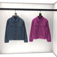 camisa larga de mezclilla chaqueta al por mayor-2019 para hombre diseñador de chaquetas de mezclilla de lujo Vintage patrón de impresión de ropa con capucha de manga larga camisas de las mujeres Hombres Mujeres etiqueta verdadera Nueva