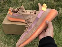 zapatillas naranja kb al por mayor-2019 Hot Authentic 350 V2 Clay EG7490 Kanye West Zapatillas de running para hombres Mujeres Forma verdadera EG749 Hyperspace EG7491 Zapatillas de deporte estáticas Tamaño 5-12