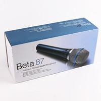 mikrofon 58 großhandel-Microfono Professional Beta87 M 58 Vocal Dynamisches Karaoke-Mikrofon TOP-Qualität Superniere Vocal-Mikrofon mit erstaunlichem Klang