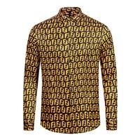 ropa de hombre entrega gratis al por mayor-Entrega gratuita 2019 Nueva Moda de manga larga Camisa de la flor de los hombres de impresión 3D Marca Ropa casual Medusa Camisa de manga larga M-XXL