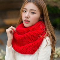 Wholesale infinity scarves for sale - Group buy Black Loop Infinity Scarf Collar Women Winter Knit O Ring Scarf Female Neck Scarves Ladies Winter Red Infinity Scarfs
