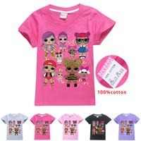 ingrosso stili preppy kids-Bambini 3D LOL Bambole di Sorpresa T-Shirt 10 stile sorpresa ragazze maglietta bambini 110/120/130/140/150 Cartoon Abbigliamento Per Bambini giocattoli Regalo
