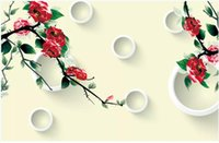 Wholesale 3d mural wallpaper flower for home resale online - 3D wallpaper custom photo mural wallpapers d beautiful flowers mural background wall papers home decor