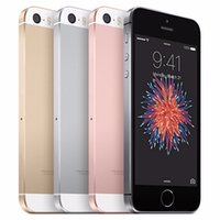 telefon 2gb koç dhl toptan satış-Dokunmatik Kimlik 4.0inch 2GB RAM Çift Çekirdekli 16GB 64GB 4G LTE Parmak İzi Elma Cep telefonu ile DHL gemi Kilitli Yenilenmiş Telefon iPhone SE A9 IOS