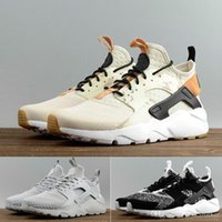 Wholesale athletic shoes men design for sale - Group buy 2020 Newest Air Huarache X Ultra Breathable Fragment Design MID Running Shoes Men Outdoor Huaraches Shoes Athletic Sport Shoes Sneakers