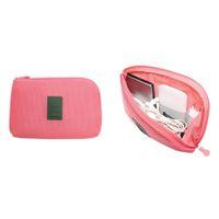 mobil şarj cihazları için ambalaj toptan satış-Moda Kozmetik Çanta Seyahat Veri Kablosu Şarj Çantası Mobil Güç Paketi Kılıfı Çanta