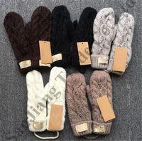 luvas de crochet sem dedos venda por atacado-Austrália UG Luvas De Torção De Esqui De Inverno Luvas De Tricô Meninas Meninas Luvas De Crochê Sem Dedos Luva Haling Mãos Marca Luvas De Malha C91001