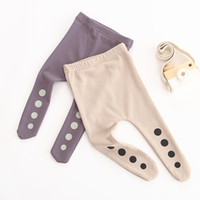 Wholesale hose tights resale online - Baby Cotton Pantyhose Boys Pantyhose Girls Pantyhose Dot Panty Hose Pure Color Tights Middle Waisted Foot Pants Spring