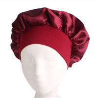Wholesale solid wrap for sale - Group buy Night Sleep Hat Hair Care Cap Women womens designer hats Fashion Satin Bonnet cap Silk Head Wrap Hair Loss Caps Accessories EEA1248