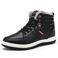 Wholesale russian snow boots resale online - 2019 Winter Men s Snow Boots For Man Waterproof Russian Winter Warm Leather Ankle Boots Men Shoes Large Size mens