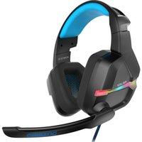 sanal oyun toptan satış-KX901 USB Sanal 7.1 Gaming Headset kablolu Gaming Headset Kablolu Kulaklık Subwoofer Titreşimli RGB Işık Mic ile Kulaklıklar kulaklıklar