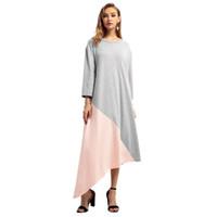 ближневосточная одежда оптовых-Женские осенне-зимние модели ближневосточная одежда мусульманский большой размер платье Арабские халаты