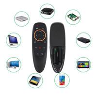luft maus mikrofon großhandel-G10 Voice Remote Control 2,4 G Wireless Air Mouse Mikrofon Gyroskop
