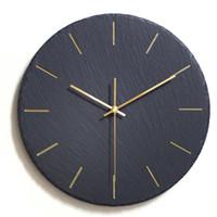 conception de la salle d'horlogerie achat en gros de-Creative Ins Noir Horloge Murale Design Moderne Montre Murale Mécanisme Pow Art Décor Horloge Relogio Parede Salon 50ZB291