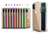 Wholesale hybrid cell phone cases for sale – best For iPhone XS MAX XR X Two tone Clear TPU Cell Phone Case Dual Color Hybrid Armor Shockproof Cover For Samsung Note S10 Plus