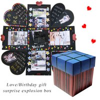 Wholesale explosion box for sale - Group buy High Quality DIY Surprise Love Explosion Box Gift Explosion for Anniversary Scrapbook DIY Photo birthday Christmas Gift