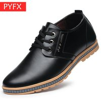 ingrosso prezzo dei pattini di svago degli uomini-Autunno 2019 Moda uomo per il tempo libero Comfort Classic Business Nero lace-up Office Leather Shoes Prezzi ultra-bassi Scarpe eleganti