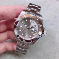 reloj gris resistente al agua al por mayor-U1 Waterproof 30m Automatic 2813 Movement Sub Steel Bezel Gray Dial Men Watch 316 Inoxidable Banda Envío Gratis