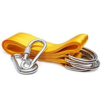 Wholesale chair seat belts resale online - Swing attachment suspension set hammock hammock chair Swing Hanging belt kit for attachment seat Hinged seat with carabiner