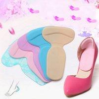 topuk koruyucusu ara parçaları toptan satış-1 pair Silikon Tabanlık Kadın Ayakkabı Pedleri Jel Astarı Topuklu Pedikür Koruyucu Minder Bakım kaymaz Ped Ayakkabı Eklemek TR602350