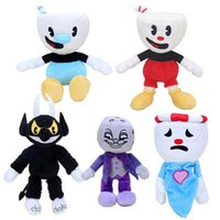 Wholesale red figures for sale - Group buy 13 Styles Game Cuphead Chalice Plush Toys Mugman Ms Chalice ghost King Dice Cagney Carnantion Puphead Plush Dolls Toys for Children Gifts