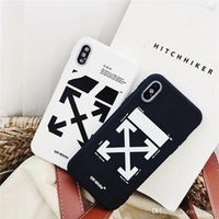 cubierta de botones para celular al por mayor-Nueva moda de rayas caja del teléfono de Graffiti para iPhone x xs max xr 7 8 Plus Shell negro blanco cubierta trasera para iPhone 6S 6 Plus 7 Plus X 10