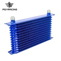 Wholesale PQY UNIVERSAL ROW OIL COOLER AN AN UNIVERSAL ENGINE TRANSMISSION OIL COOLER KIT TRUST TYPE BLUE PQY5113B