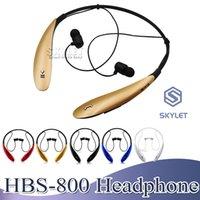 caja de bluetooth xiaomi al por mayor-HBS800 Auriculares inalámbricos Auriculares Bluetooth 4.0 En el oído Auriculares estéreo Auriculares deportivos para iPhone Samsung XIAOMI LG Huawei con estuche