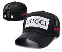 yeni moda serin örgü toptan satış-Moda Beyzbol Şapkası Erkek Kadın Açık Tasarımcı Spor G Mesh Kapaklar Hip Hop Ayarlanabilir Snapbacks Serin Desen Şapka Yeni Kamyon Şapka siyah beyaz
