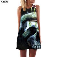 Wholesale womens tassels party dresses resale online – Brand Snake Dress Women Animal Vestido Sexy Skull Boho Gothic Party Novel Ladies Dresses Womens Clothing Tassel New