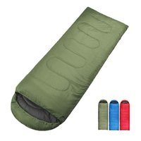 ingrosso borse da campeggio resistenti all'acqua-Busta esterna multifunzionale con cappuccio Camping Warm Water Resistant Cotton Sleeping Bag Solid